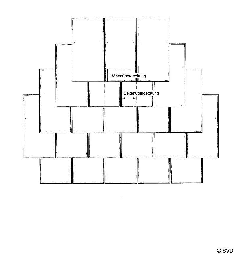 Prinzipskizze Rechteck Doppeldeckung