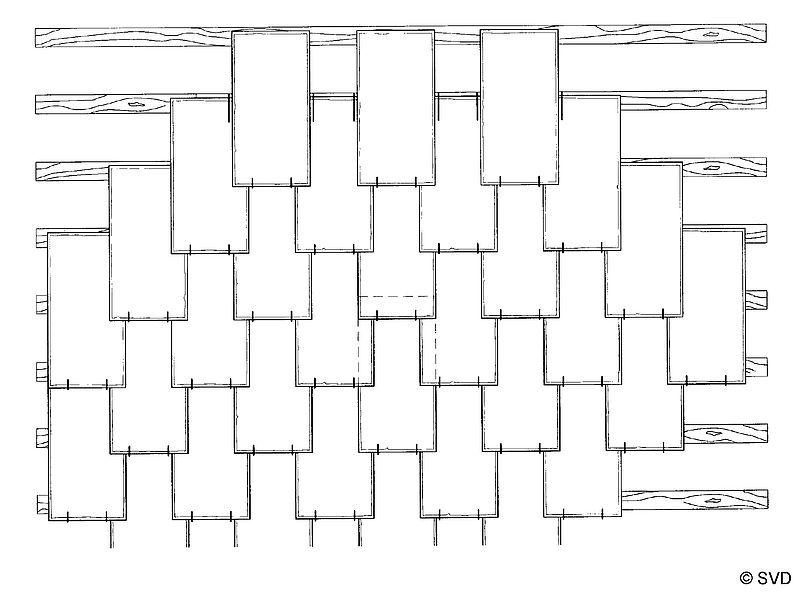 Prinzipskizze gezogene Rechteckdoppeldeckung